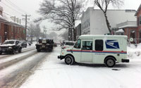 A Snowy Downtown Darien