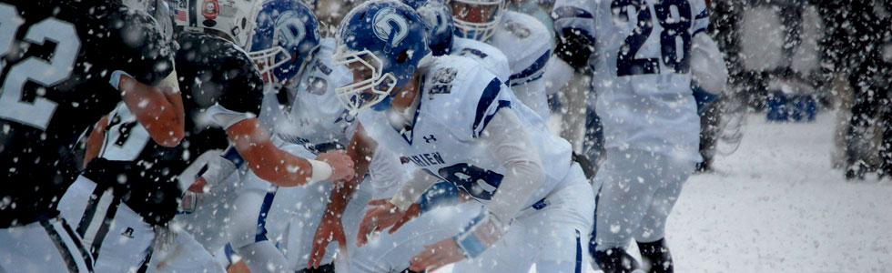 Darien football October snow