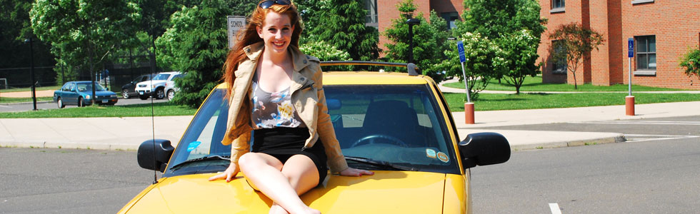 Senior Ali McGarey's bubbly personality shines as brightly as her yellow truck